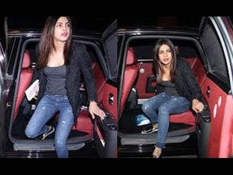 Priyanka Chopra Spotted at Airport in Rolls Royce Phantom Car Flying To USA