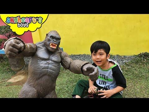 Giant KING KONG toys Skull Island Monkey Gorilla for kids fight king of the monsters toys
