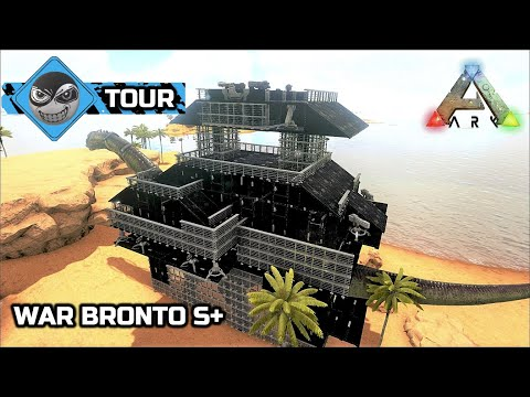 ark survival evolved bronto platform base metal armored tank the