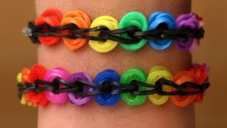 Rainbow Loom Nederlands - Bike Chain Armband    Loom bands, rainbow loom, tutorial, how to