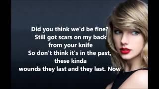 Taylor Swift - Bad Blood ft. Kendrick Lamar lyrics