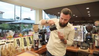 Lombardini coffee at barista cafe. Malkonig K30 Vario with conti Monte Carlo. Lessons to new barista