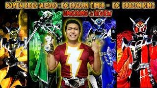 Kamen Rider Wizard : DX Dragon Timer -  DX Flame Water Land Hurricane Dragon Ring  - Movie Wars Set