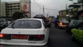 Cameroon - rush hour traffic (raw video)