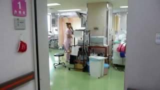 悠陽 誕生(宏子 分娩台) delivery room