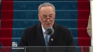 Sen. Chuck Schumer delivers remarks and introduces Justice Clarence Thomas