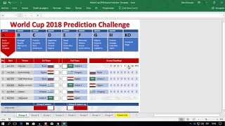 2018 FIFA World Cup Russia   Free Prediction Templates For Excel