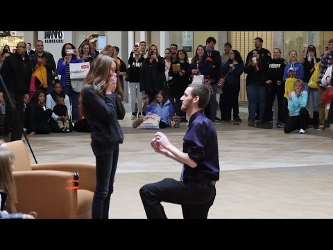 Casey & Meg Marriage Proposal Flash Mob - Eastview Mall (BreakingNormalProd)