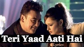 Teri Yaad Aati Hai | Lyrics | Adnan Sami | HD 1080p | Globe Lyrics | GL