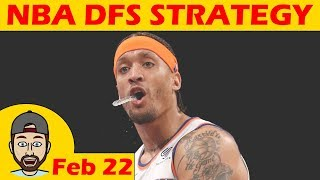 NBA DFS Projections & Strategy | Thursday 2/22 | FanDuel & DraftKings