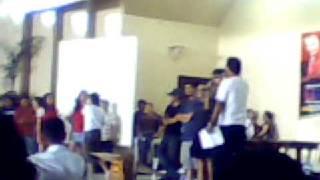 Parokya ni Edgar along with Katya Santos and Maui Taylor at the University of Mindanao
