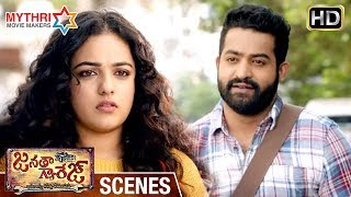 Jr NTR Trolls Nithya Menen | Vennela Kishore Flirts with Samantha | Janatha Garage Movie Scenes