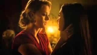Lesbian kissing scene 1