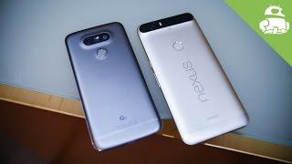 LG G5 vs Nexus 6P Hands-on!
