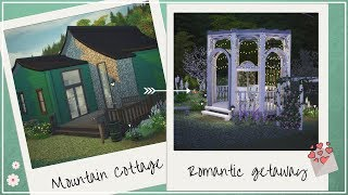 Mountain Cottage - Romantic Getaway | The Sims 4 Valentine´s speed build