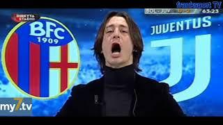 """DirettaStadio 7Gold Bologna-Juventus 0-3 Francesco Oppini euforico:""""La palla di Pjanic cantava!"""""""