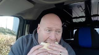 Double Cheese Burger from a burger van at B&Q in Loughborough
