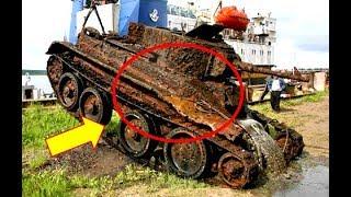 Археологи обнаружили в лесу этот старый танк. Когда открыли его — не поверили своим глазам!