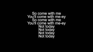 Not Today Imagine Dragons Lyrics Video
