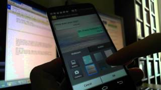 Change your SMS themes on LG G2