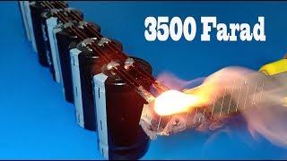 Experiment 3500 Farad Super Ultra Capacitors