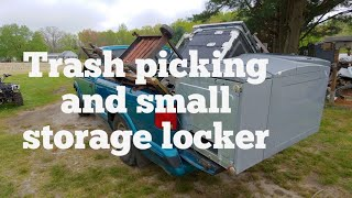 Trash picking and small storage locker clean out