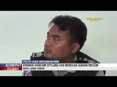 Polisi Ajak Mesum Korban Yang terjaring Razia agar tidak di Tilang