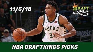 11/6/18 NBA DraftKings Picks - Money Six