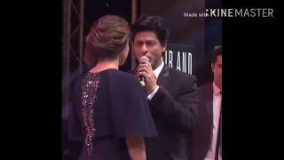 in real life Srk kiss kajol with funny laugh....most  amazing friendship in bollywood...