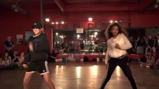 Taylor Hatala & Kyndall Harris dancing