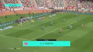 PS4 PES 2018 Gameplay Club Africain vs Wydad Athletic Club [HD]