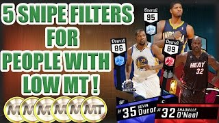 5 AMAZING SNIPE FILTERS FOR THOSE WITH LOW MT IN NBA2K17!