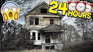 24 HOUR HAUNTED HOUSE CHALLENGE!
