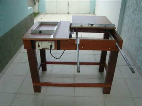 Serra de Mesa e Esquadrejadeira Table Saw Homemade