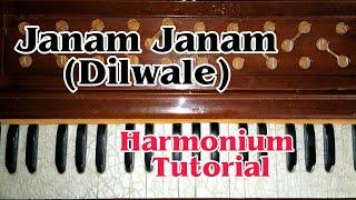 Janam Janam (Dilwale) Arijit Singh - Harmonium Tutorial