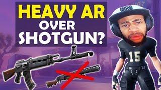 HEAVY AR OVER SHOTGUN? | INSANE CLOSE RANGE | HIGH KILL FUNNY GAME - (Fortnite Battle Royale)