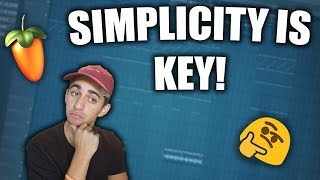 How to Make SIMPLE but FIRE Trap Beats - FL Studio Beatmaking