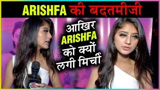 SHOCKING! Arishfa Khan RUDE BEHAVIOUR With TellyMasala Reporter
