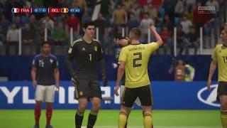 World Cup 2018 Belgium vs France - Semi Finals 2018 Full Match Sim (FIFA 18)