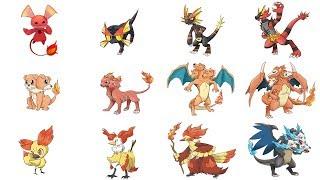 New Fire Type Gen 8 Pokemon & Evolutions | Pokemon Gen 8 Fanart #12