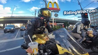 Getting McDonalds With RidingWithTom!