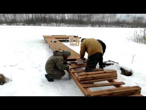 Как сделать кладку для рыбалки видео