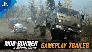 Spintires | MudRunner | Offical Gameplay Trailer | Play Station 4