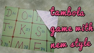 Super ideas ladies kitty games Tambola game in new way.