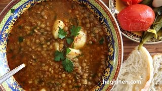 Lentil Soup Recipe - Armenian Cuisine - Heghineh Cooking Show