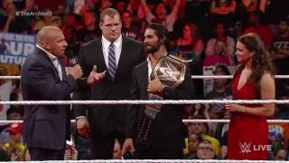 """Dean Ambrose interrupts """"Seth Rollins: Architect of a Dream"""": Raw, May 18, 2015"""