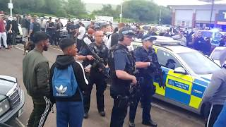 Police try and tazer guy and shut down car show meet in London!!