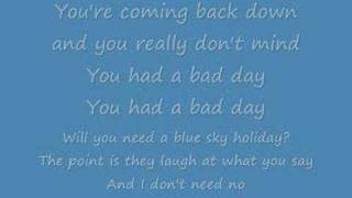 Alvin and the chipmunks - bad day (lyrics)