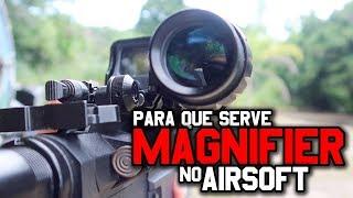 AIRSOFT   PARA QUE SERVE O MAGNIFIER 3X COM RED DOT 553
