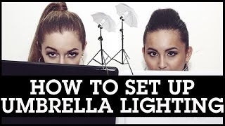 How To Set Up Umbrella Lighting Before Filming To Make Your Videos Nice + Bright!